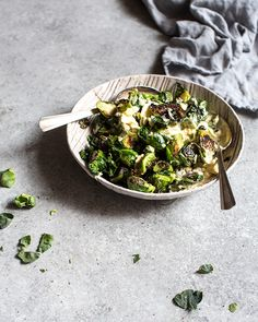 deviled brussel sprout salad / what's cooking good looking