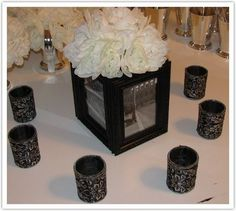 Centerpieces With Frames Images Picture Frame Centerpiece Wedding Beauty Pinterest