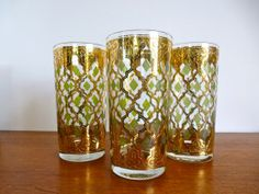 Vintage Culver Valencia Highball Tumblers set of by HotCoolVintage