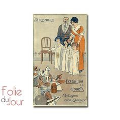 Christmas poster  Vintage French Music sheet and by FolieduJour, $11.38
