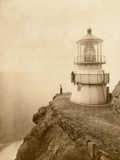 Eadweard Muybridge - First-Order Lighthouse at Punta de los Reyes, Seacoast of California, 296 Feet Above Sea  1871