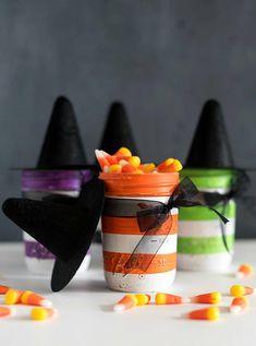 Witch Mason Jars  Witch Hat Mason Jars  Halloween Mason Jars