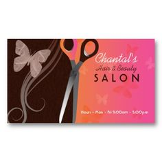 Hair and beauty salon business cards