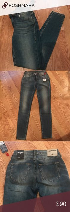 Womens True Religion Curvy skinny stretch jeans NWT. Womens True Religion JennieCurvy skinny stretch jeans.  size 26 💥make an offer💥 True Religion Jeans Skinny