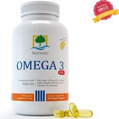 Omega 3 Fish Oil - Triple Strength EPA DHA Capsules Pharmaceutical Grade, Odorless & Burpless Pills (USA Made) 60 Count - 100% Money-back Guarantee! Nutrivato http://www.amazon.com/dp/B00D1SV0Y8/ref=cm_sw_r_pi_dp_a3qUub0SE76JC