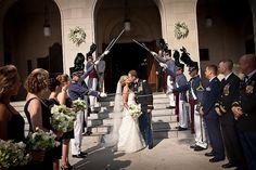 military wedding traditional exit; Richard Ellis Photography