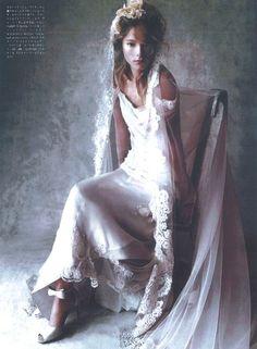 Vogue Bride Japan – 2012 #bride #wedding #albertaferretti #editorial #magazine #fashion #white #dress #vogue
