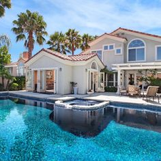 big houses with pools   Large House with Pool iPad Wallpaper HD 1024x1024   iPad Other ...