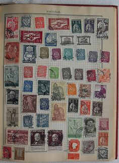 Postage Stamp Collection Vintage Album, 1910.  Photograph by Christian Montone Taken on August 24, 2009