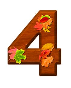 Zahl - Nummer - Number / 4 - Vier - Four (Herbst / Autumn / Fall)