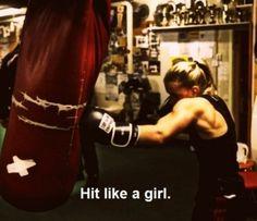 Hit like a girl!