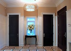 Dark interior doors
