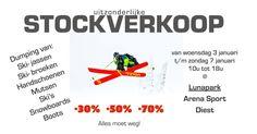 Uitzonderlijke stockverkoop wintersportmateriaal! -- Diest -- 03/01-06/01