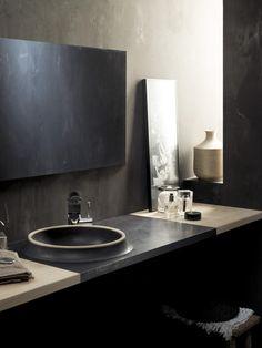 Moderner Waschtisch aufsatzwaschbecken rund modern grau glass design srl 077 ea