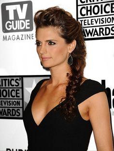 Stana Katic. Love her hair