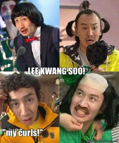 Lee Kwang Soo, our giraffe :) What hilarious hairstyles! Running Man Funny, Running Man Song, Running Man Korean, Korean Tv Shows, Korean Variety Shows, Korean Celebrities, Korean Actors, Lee Kwangsoo, I Love Mondays