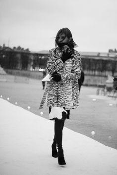 Fotos de street style en Paris Fashion Week: Carine Roitfeld