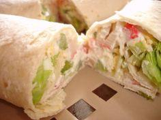 Crab Salad Tortilla Wraps * Subway Copycat