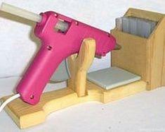 Glue gun holder  - ans French Cleat angepasst - 1x für die kleine - 1x für die große Heissklebepistole
