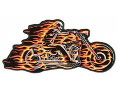 Ghost Rider Skeleton Motorcycle Iron on Patch