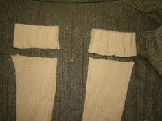 Fireflies and Jellybeans: How to Make Leg Warmers From an Old Sweater