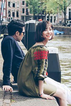 Han Ji Min, Bomber Jacket, Hair, Jackets, Fashion, Down Jackets, Moda, Fashion Styles, Fashion Illustrations