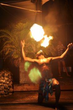 Fire blowing at the Kalevu Cultural Centre! #fiji #travel #islands