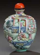 Conese JIAQING Period Porcelain Snuff Bottle Early 19th Century