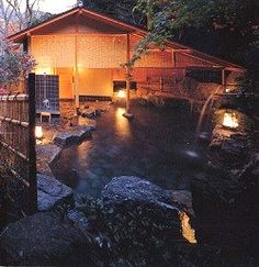 """Top 10: Resources for a Japanese Bath. http://www.apartmenttherapy.com/top-10-resource-8427  Hinoki wood bath accessories. Rot-proof, hiroki wood smells great when wet. Bonsai. Pretend you're bathing outside, with a view of a distant wood. Smooth black pebbles. See """"bonsai."""" Kago lantern. Ambiance is everything. Yukata (men's and women's). Light cotton robes that feel great against steamed skin"""