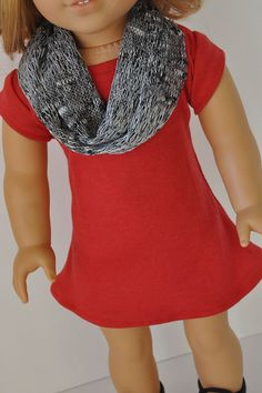 American Girl Doll Clothes  Stylish Red Knit by CircleCSewing, $14.00