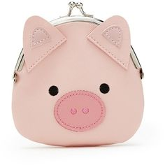 Forever21 Pig Coin Purse ($5.90) ❤ liked on Polyvore featuring bags, wallets, forever 21, coin purse, pink coin purse, forever 21 wallets and coin pouch wallet