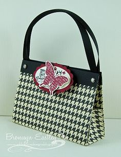 6X6 Houndstooth Bag by BronJ - Cards and Paper Crafts at Splitcoaststampers