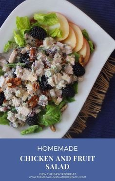 ThisChicken Salad with fruit recipe makes a quick, delicious meal! It also has roasted nuts for the best chicken salad recipe and makes a great chicken salad sandwich! Best Salad Recipes, Salad Dressing Recipes, Fruit Recipes, Healthy Recipes, Amazing Recipes, Chicken Salad With Fruit Recipe, Chicken Salad Recipes, Leftover Turkey Recipes, Roasted Nuts