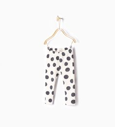 Polka dot print leggings-Skirts and trousers-Baby girl-Baby | 3 months - 3 years-KIDS | ZARA United States