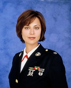 Catherine Bell (b.1968)... An American actress, best known for her role of Lieutenant Colonel Sarah MacKenzie of the television show JAG (1997-2005).  She was diagnosed with Thyroid Cancer in her 20's.