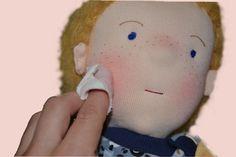 Waldorfpuppen Details rote Bäckchen Beanie, Children, Freckles, Red, Tutorials, Belly Button, Love, Young Children, Kids