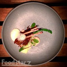 Lamb with Ginger-foam and Bokchoi