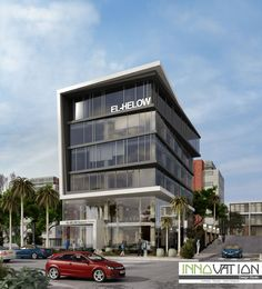 Architecture elevation Check it out!- Check it out! Cinema Architecture, Office Building Architecture, House Architecture Styles, Building Exterior, Building Facade, Commercial Architecture, Concept Architecture, Building Design, Retail Facade