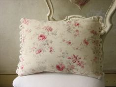 french vintage fabric cushion makes seating a pleasure in my cottage