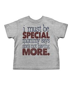 American Classics Gray Heather 'Must Be Special' Tee - Toddler & Boys by American Classics #zulily #zulilyfinds