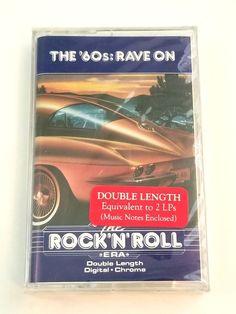 The Rock'N'Roll Era Rave On Music Cassette Double Length Digital Chrome Rockn Roll, Music Notes, Lps, Rave, Chrome, Digital, Books, Raves, Libros