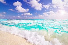 Waves on the beach photography summer sky beach ocean water waves pretty sea Waves On The Beach, I Love The Beach, Ocean Waves, Nice Beach, Water Waves, Cozumel, Dream Vacations, Vacation Spots, Dream Trips