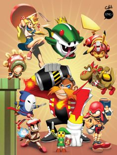 Video Game Character Mash-ups! on Behance