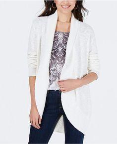 5d1f09de50 Style   Co Shawl-Lapel Open-Front Cardigan