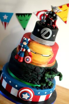 Avengers 30th birthday cake