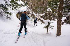 Spend the day in Stowe's most pristine backcountry on a full day epic ski adventure. Umiak's certified backcountry guide will teach their tricks of the trade in Outdoor Outfitters, Ski Touring, Vermont, Skiing, Woods, Adventure, Ski, Forests, Adventure Game