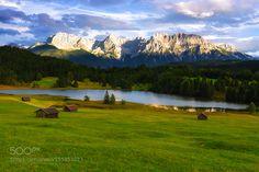 Idyllic Geroldsee Alpenwelt Karwendel