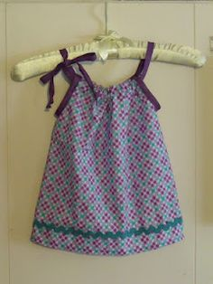 DIY Pillow Case Dress, but not out of a pillow case, easy tutorial to make a dress from start to finish