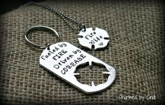 Firefighter Key Ring with Fire Wife Necklace by CharmedbyCindi, $32.00