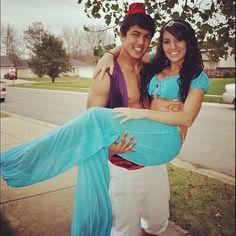disney princess halloween costumes jasmine and aladdin - Disney Princess Halloween Costumes Diy